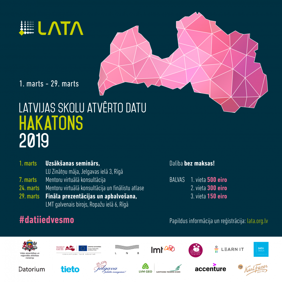 Latvijas skolu atvēro datu Hakatons
